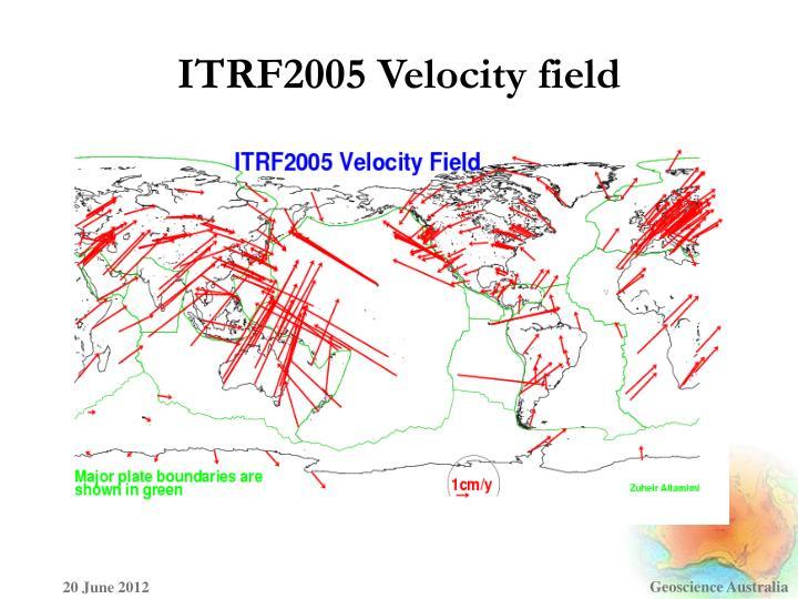 ITRF2005 Velocity field