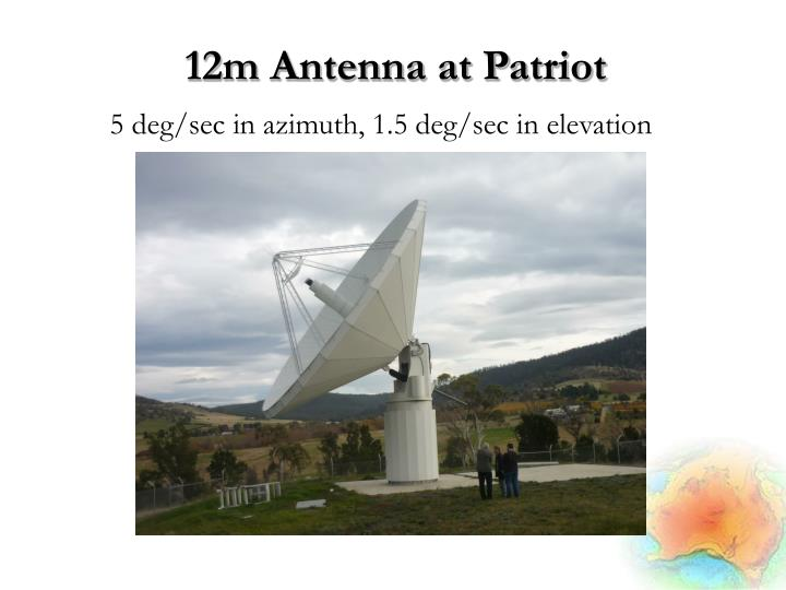 12m Antenna at Patriot