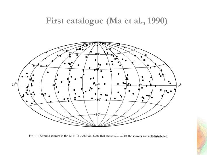 First catalogue (Ma et al., 1990)