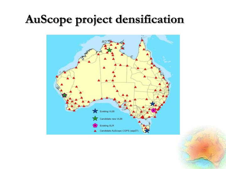 AuScope project densification