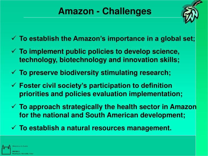 Amazon - Challenges