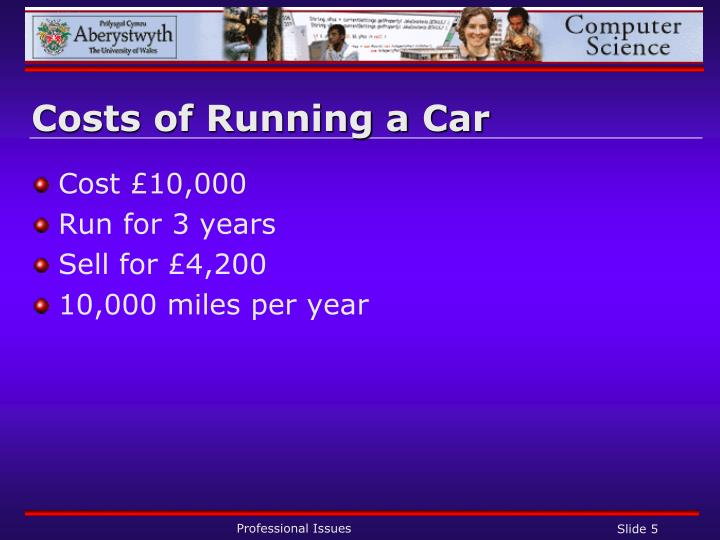 Costs of Running a Car