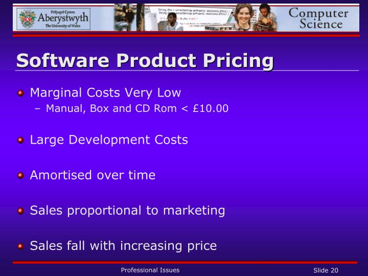 Software Product Pricing