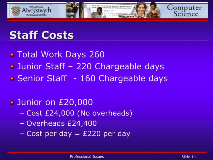 Staff Costs