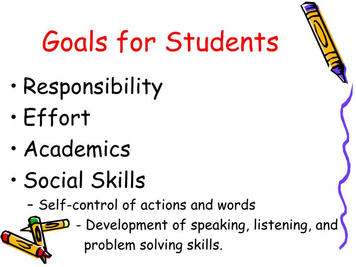 Goals for students