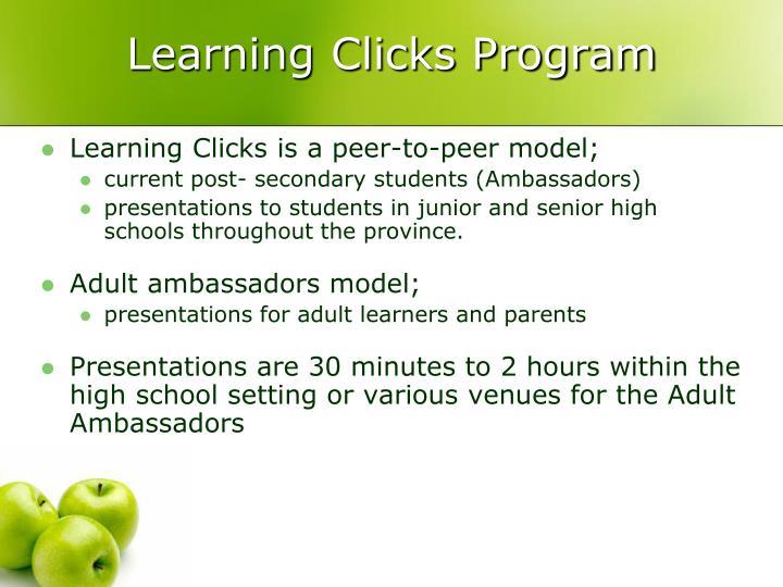 Learning Clicks Program