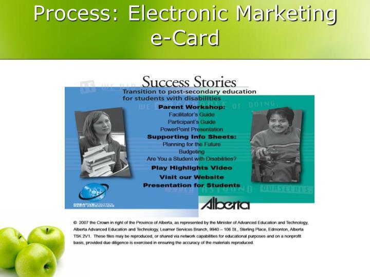 Process: Electronic Marketing e-Card