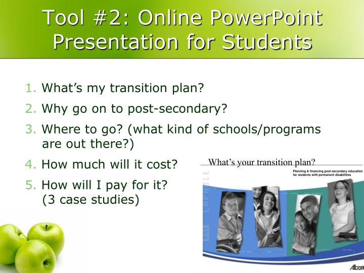 Tool #2: Online PowerPoint Presentation for Students
