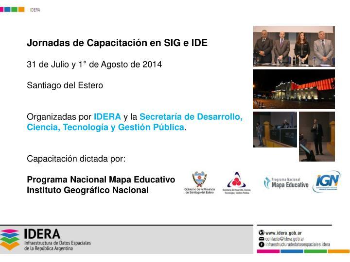 Jornadas de Capacitación en SIG e IDE