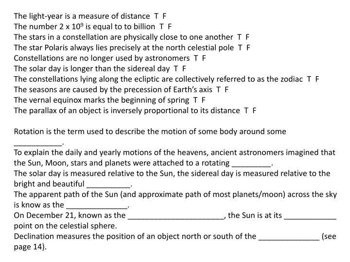 The light-year is a measure of distance  T  F