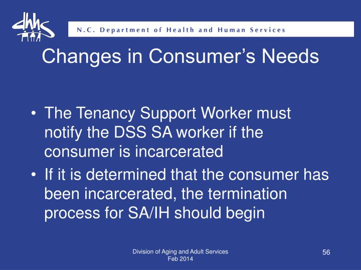 Changes in Consumer's Needs