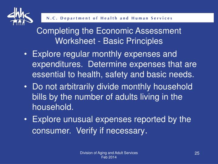 Completing the Economic Assessment
