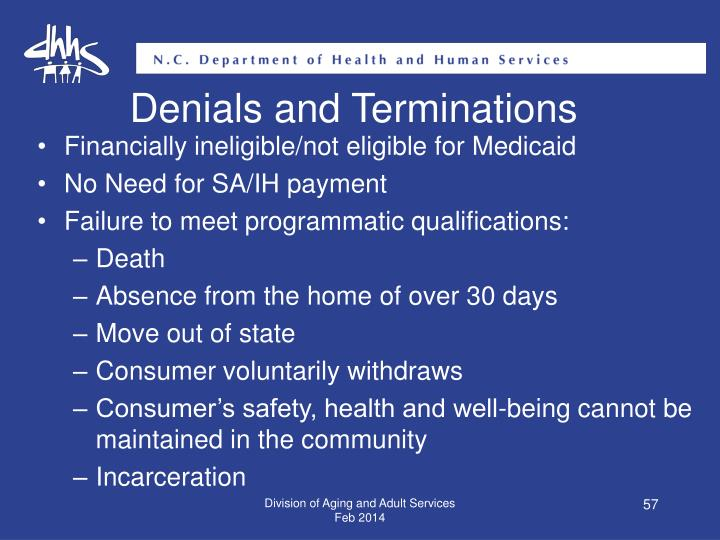 Denials and Terminations