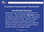 economic assessment worksheet1
