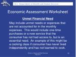 economic assessment worksheet2