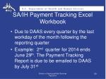 sa ih payment tracking excel workbook