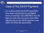 uses of the sa ih payment2