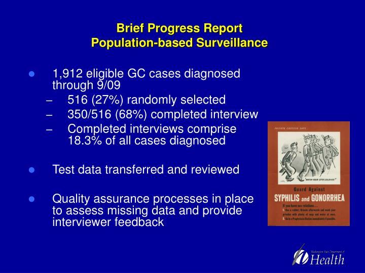 Brief Progress Report