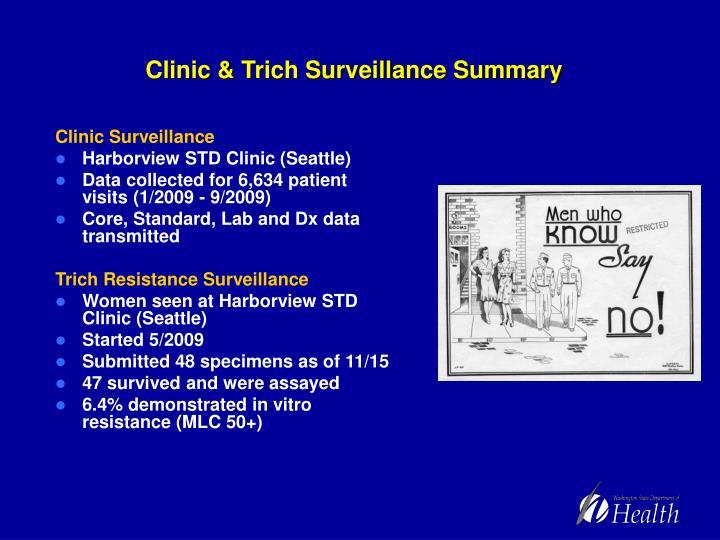 Clinic & Trich Surveillance Summary