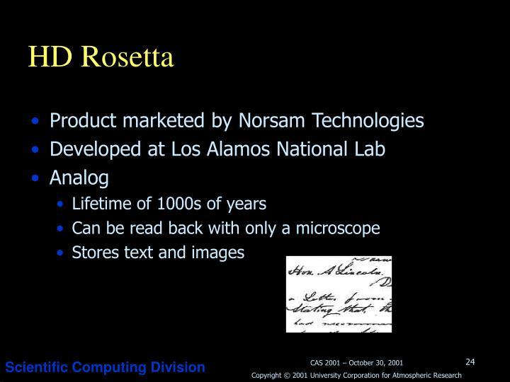 HD Rosetta