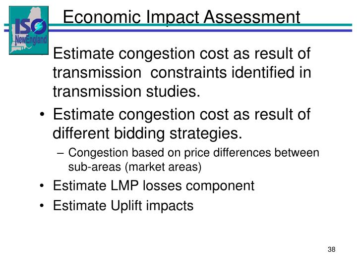 Economic Impact Assessment