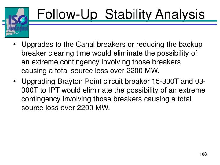 Follow-Up  Stability Analysis