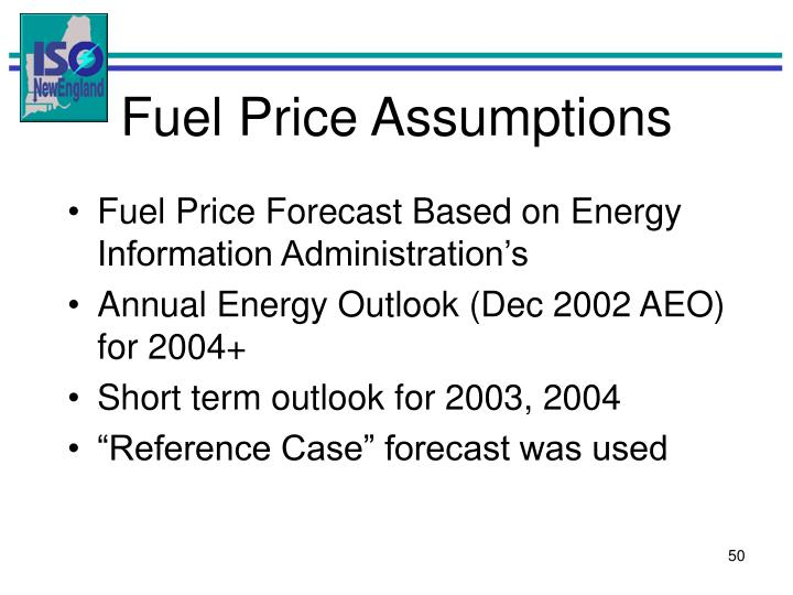 Fuel Price Assumptions
