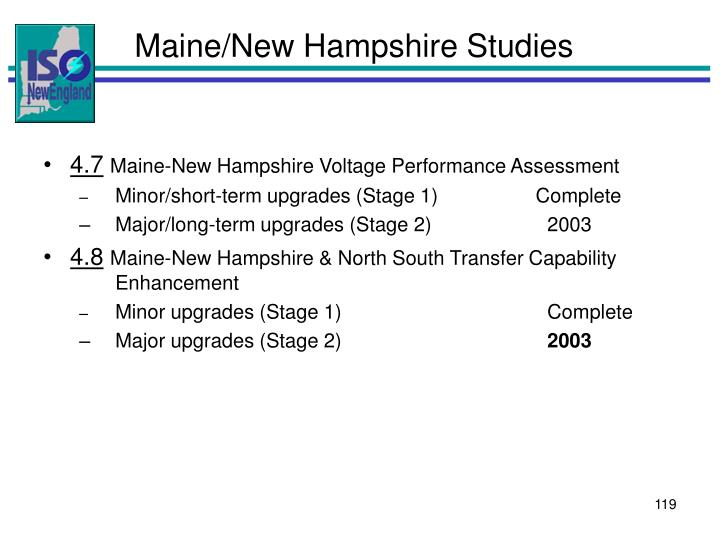 Maine/New Hampshire Studies