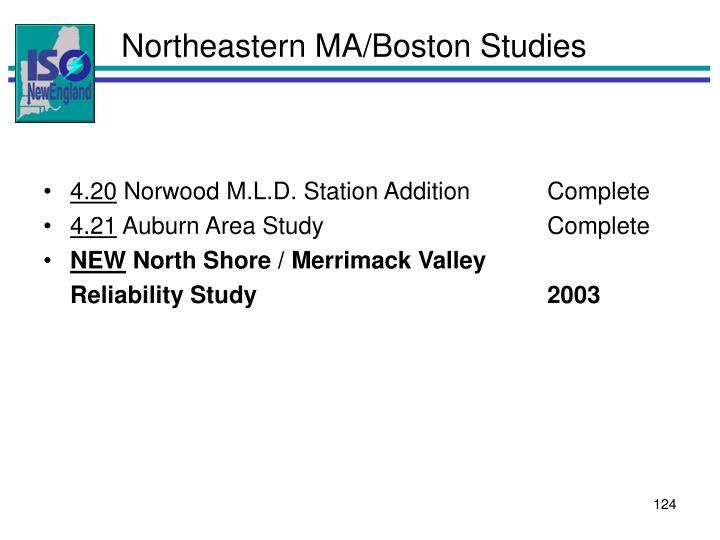 Northeastern MA/Boston Studies