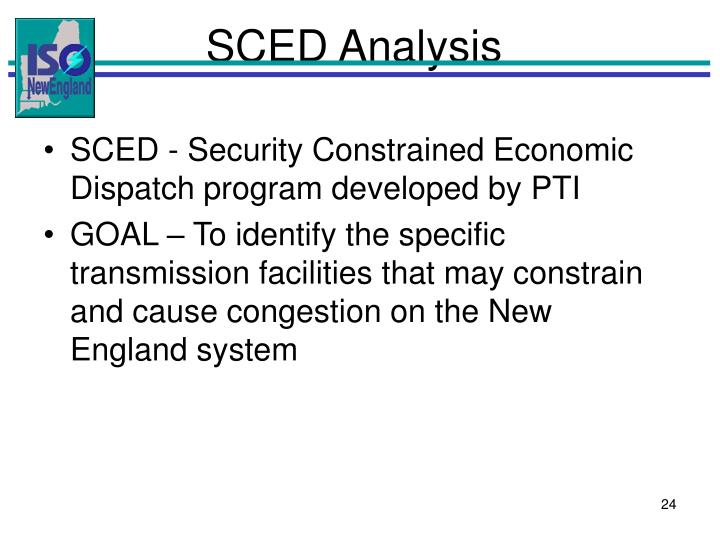 SCED Analysis