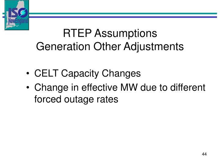 RTEP Assumptions