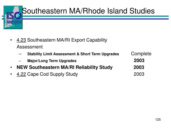 Southeastern MA/Rhode Island Studies