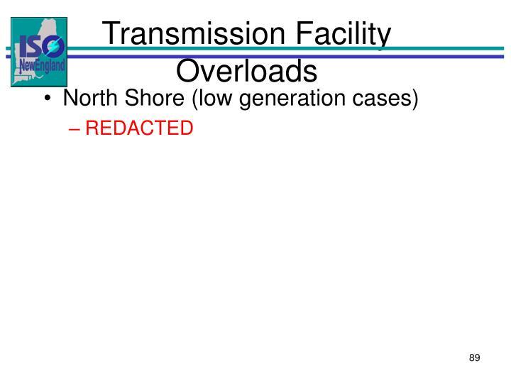 Transmission Facility Overloads