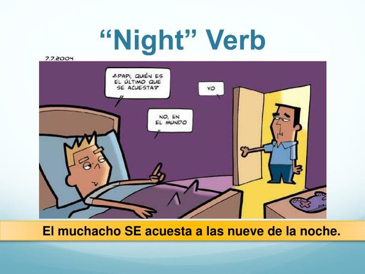 """Night"" Verb"