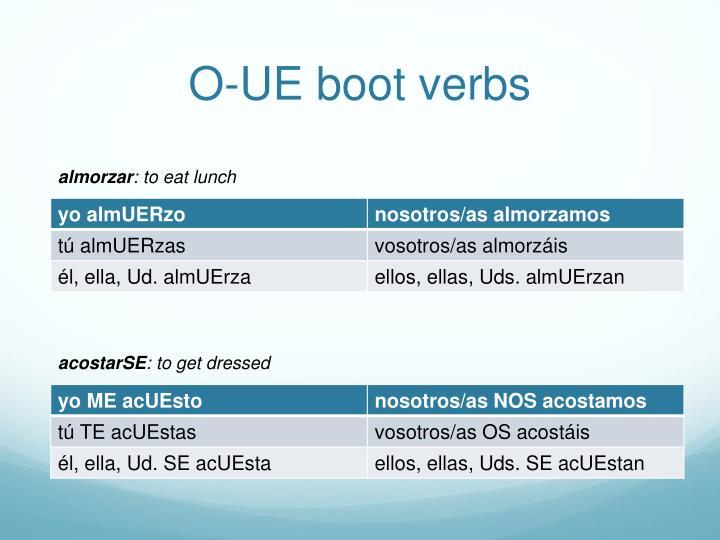 O-UE boot verbs