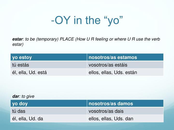 """-OY in the """"yo"""""""