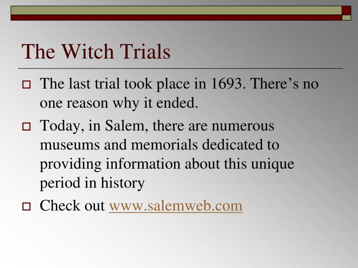 The Witch Trials