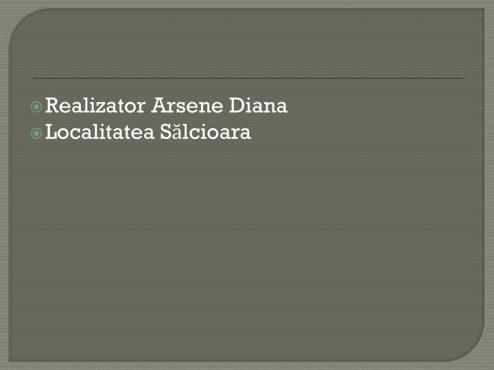 Realizator Arsene Diana