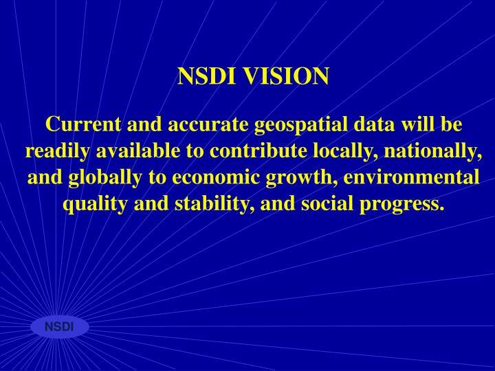 NSDI VISION