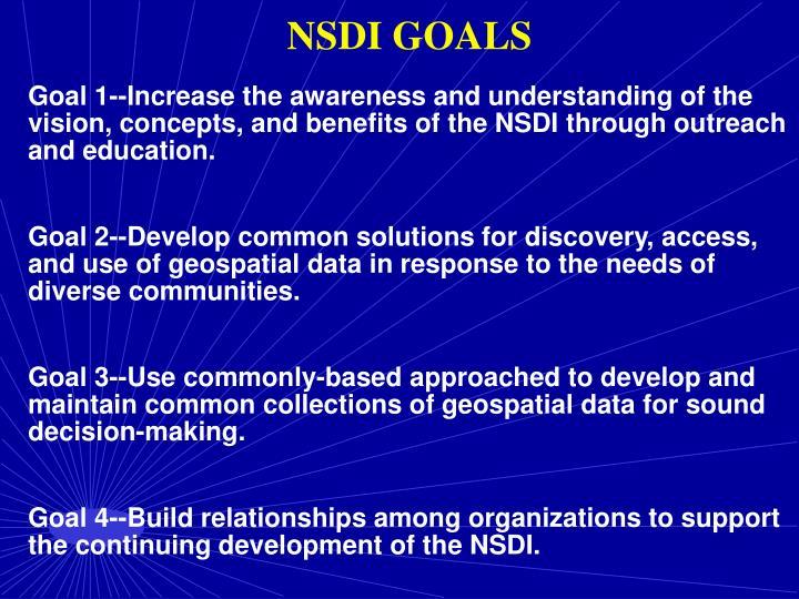 NSDI GOALS