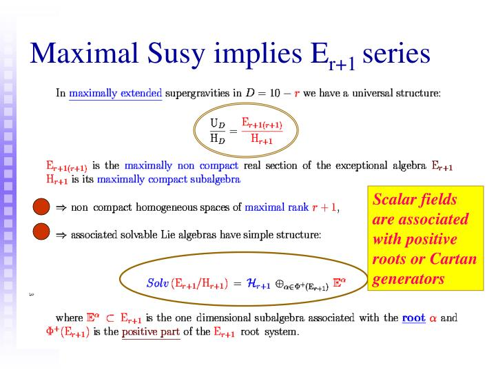 Maximal Susy implies E
