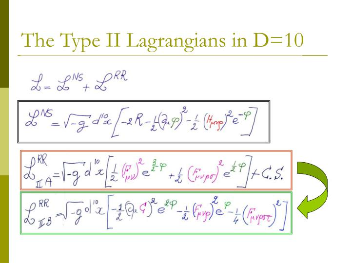 The Type II Lagrangians in D=10