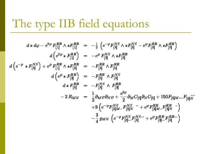 The type IIB field equations