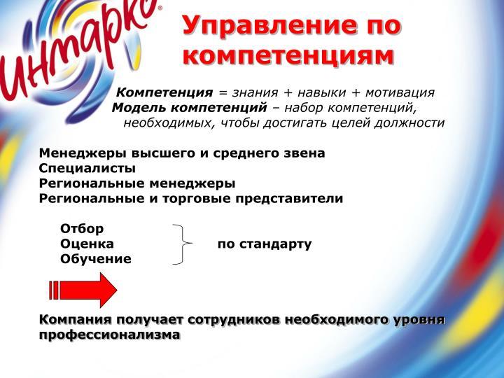 Управление по компетенциям