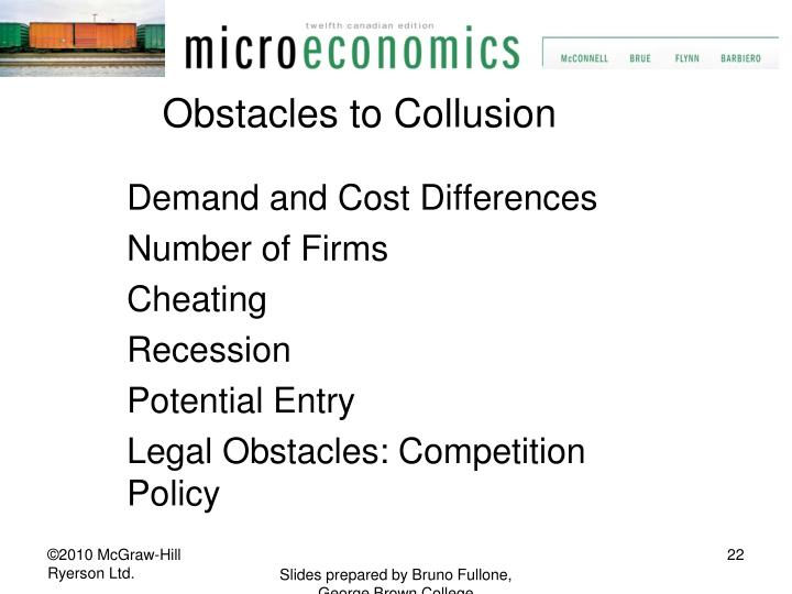 Obstacles to Collusion