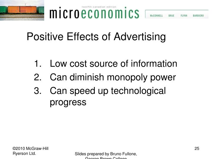 Positive Effects of Advertising