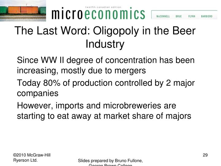The Last Word: Oligopoly in the Beer Industry