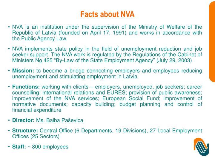 Facts about NVA