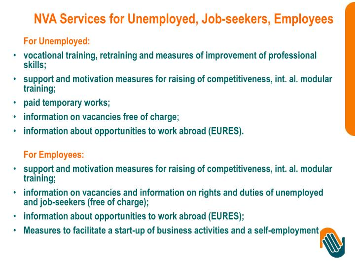 NVA Services for Unemployed