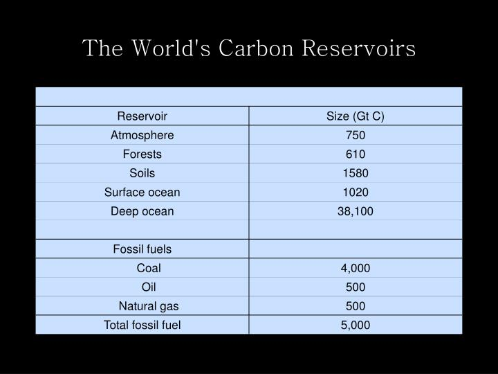 The World's Carbon Reservoirs